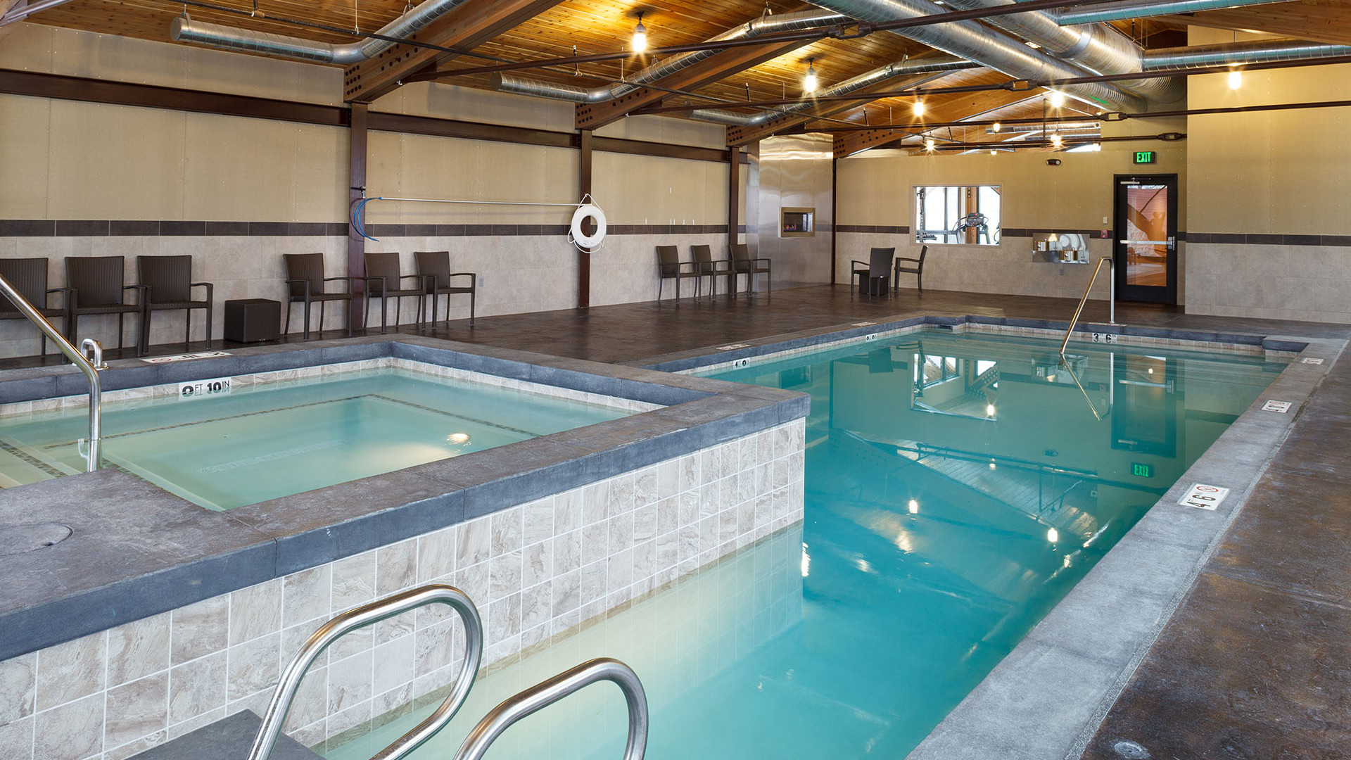 Relax in the indoor pool and hot tub.