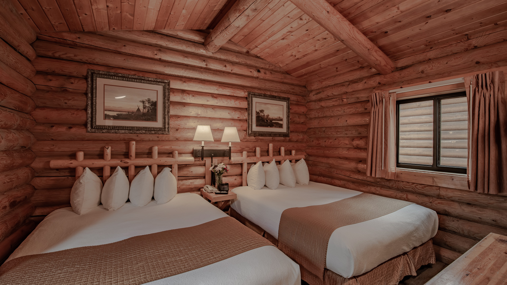 Deluxe cabin accommodations.