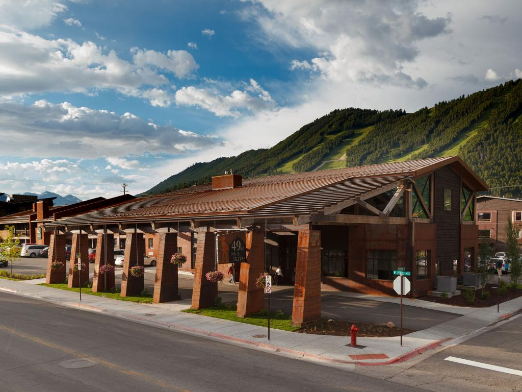The 49er inn suites renovation and remodel town square for Towns near jackson hole wyoming