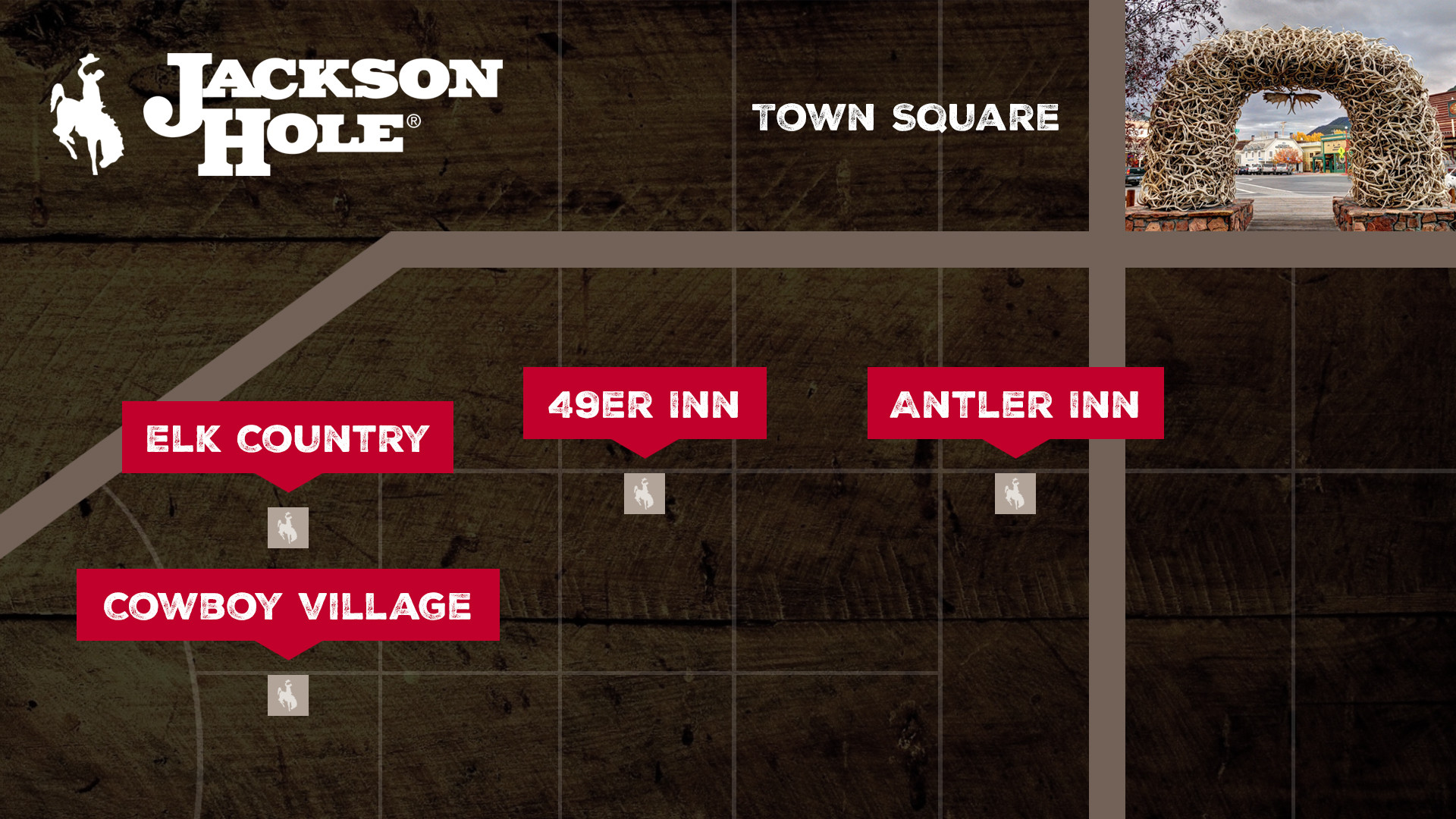 Jackson Hole WY Maps Directions Town Square Inns - Jackson hole us map
