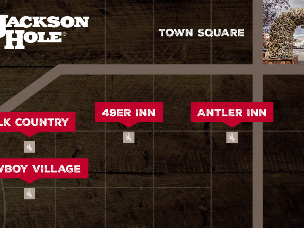 Jackson Hole, WY Maps & Directions - Town Square Inns