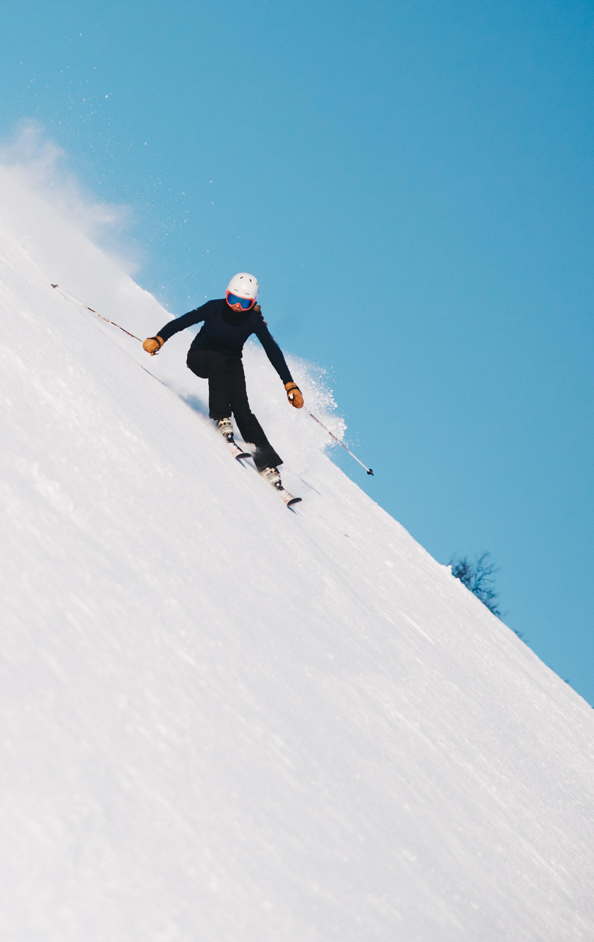 downhill skier in Jackson Hole , WY