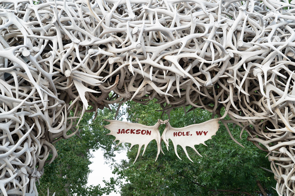antler arch in town square, Jackson Hole, WY